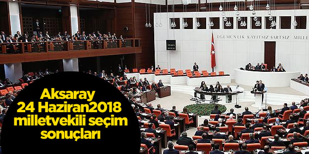 AKSARAY SEÇİM SONUÇLARI 24 HAZİRAN 2018 MİLLETVEKİLİ SEÇİM SONUÇLARI