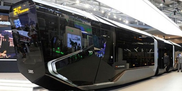 Akvaryum görünümlü tramvay