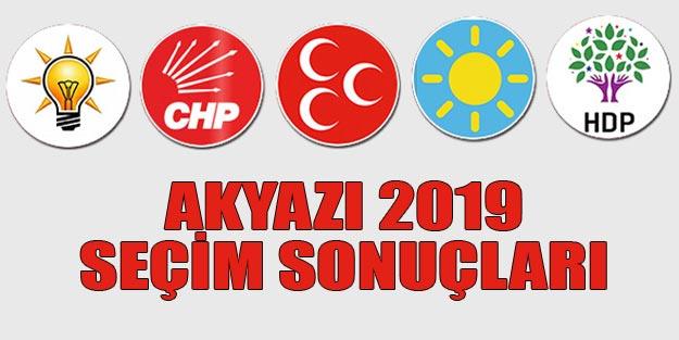 Akyazı seçim sonuçları 2019 | Sakarya Akyazı 31 Mart seçim sonuçları oy oranları