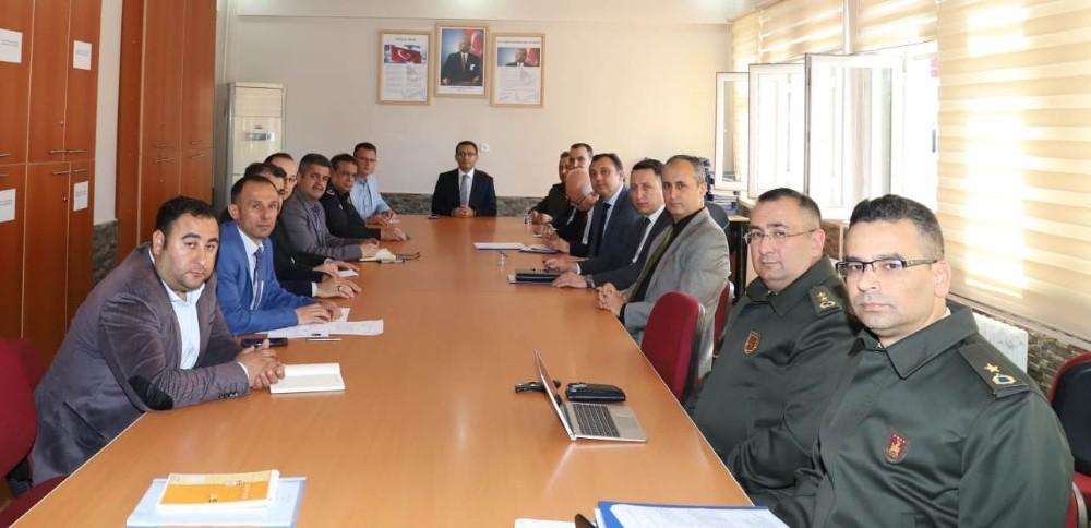 Alaşehir'de Afet ve Acil Durum Toplantısı yapıldı