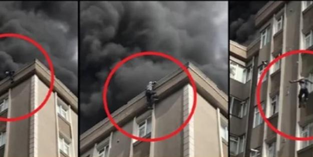 Alevlerden kurtulmak için çatıdan atlayan yaşlı adam hayatını kaybetti