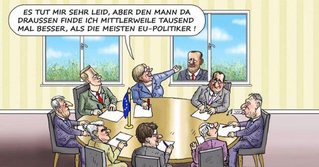 Alman karikatürist Erdoğan'ı böyle çizdi!