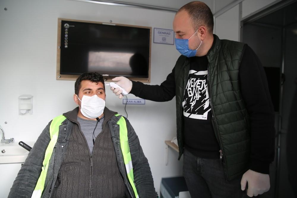 Altınordu Belediyesi'nden temizlik personeline düzenli muayene