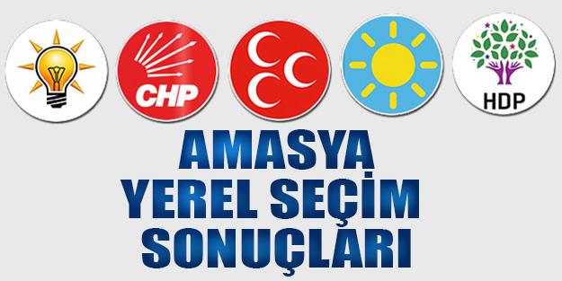 Amasya yerel seçim sonuçları 2019   Amasya yerel seçim oy oranları