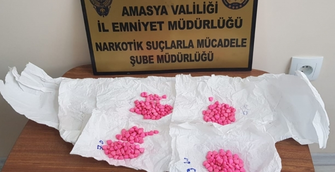 Amasya'da uyuşturucu operasyonu: 5 kişi gözaltında