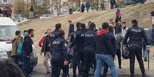 Amatör maçta ortalık karıştı! Polis biber gazıyla müdahale etti
