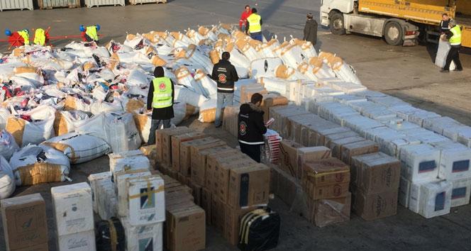 Ambarlı Limanı'nda 700 bin kaçak sigara ele geçirildi