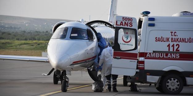 Ambulans uçak bu kez genç kız için havalandı!