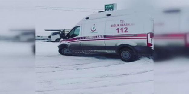 Ambulansla drift yapmıştı! O sürücü görevden uzaklaştırıldı