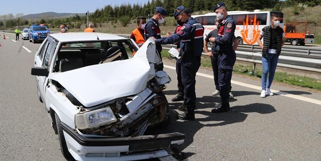 Anadolu Otoyolu'nda kaza: Yaralılar var