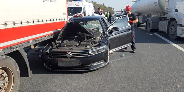Anadolu Otoyolu'nda trafik kazası! Kopan parmakları arandı