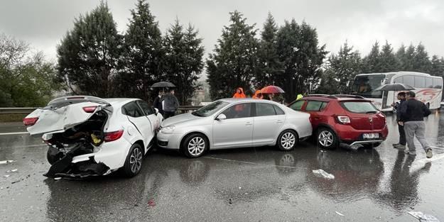 Anadolu Otoyolu'nda zincirleme kaza: Çok sayıda yaralı var
