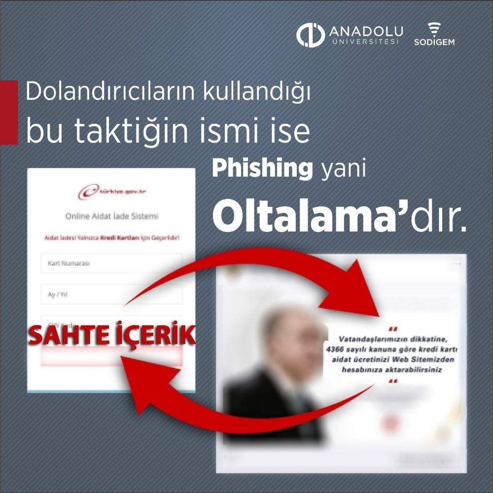 Anadolu Üniversitesi dolandırıcılıklara karşı uyardı