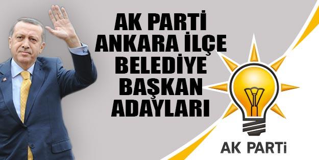 AK Parti Ankara ilçe belediye başkan adayları 2019