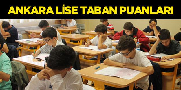 Ankara liseleri taban puanları yüzdelik dilimleri 2018 MEB LGS sonuçları