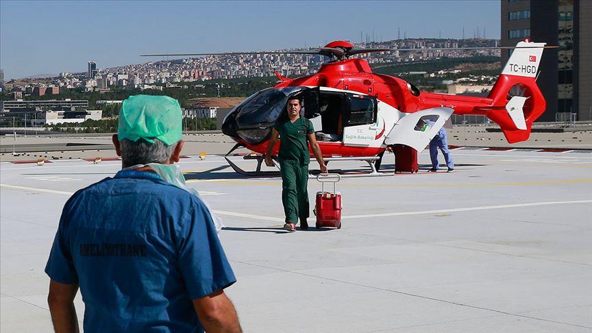 Ankara Şehir Hastanesine ambulans helikopterle ilk organ transferi yapıldı