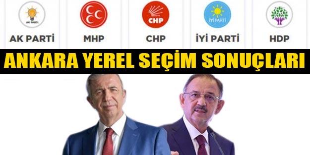 Ankara yerel seçim 2019 son dakika sonuçları | YSK 2019 Ankara Cumhur ittifakı Millet ittifakı oy oranları