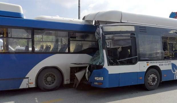 Ankara'da belediye otobüsleri çarpıştı! Ölü ve yaralılar var