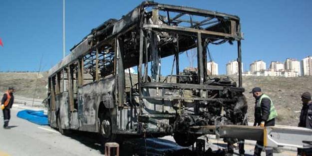 Ankara'da EGO otobüsü yandı!