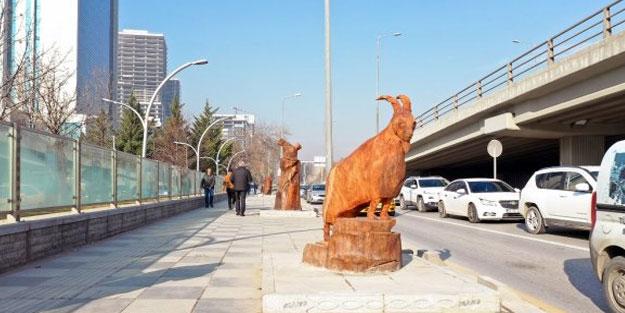 Ankara'da fantastik keçi heykellerini bakın neye benzettiler