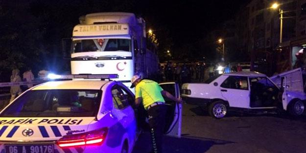 Ankara'da feci kaza: 1 ölü, 5 yaralı