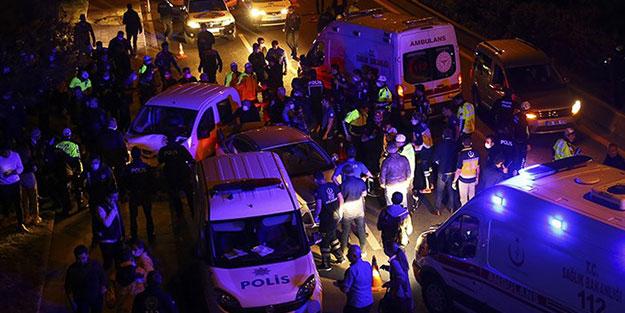 Polis uygulama noktasına araç daldı! Çok sayıda yaralı var