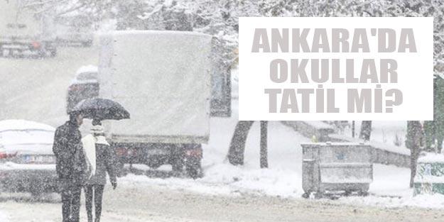 Ankara'da okullar tatil mi? Ankara'da bugün okullar tatil edildi mi?