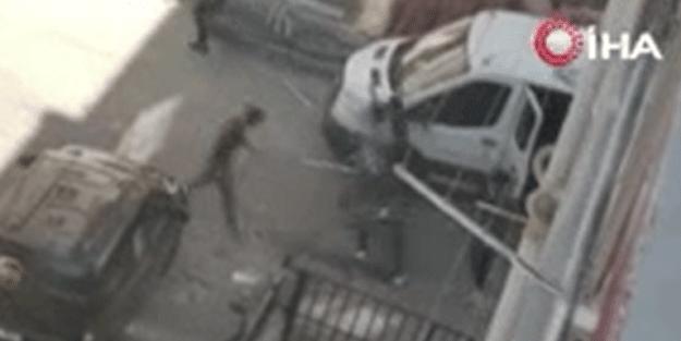 Ankara'da ortalık bir anda karıştı! Sopalarla acımasızca vurdular