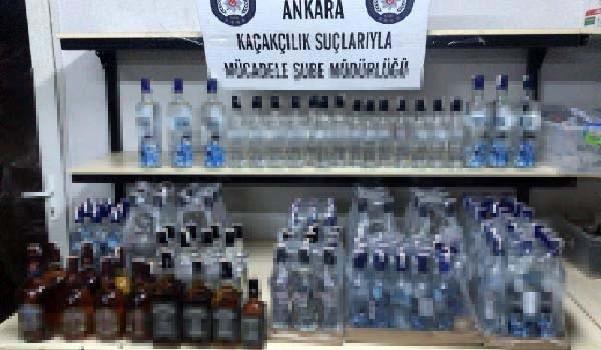 Ankara'da sahte ve kaçak içki operasyonu: 22 kişi gözaltı