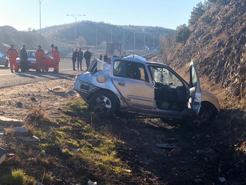 Ankara'da trafik kazası: 1 ölü, 1 yaralı