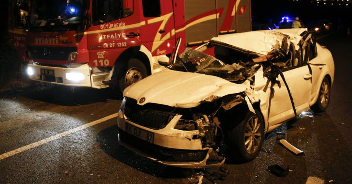Ankara'da trafik kazası! 3 yaralı