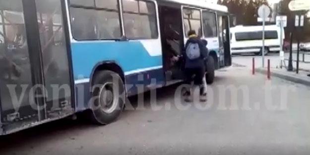 Ankara'da utandıran görüntü! Başkentte engelli vatandaş, otobüse böyle bindi
