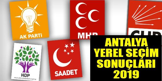 Antalya yerel seçim 2019 sonuçları | Antalya ilçeleri seçim sonuçları son dakika Cumhur ittifakı Millet ittifakı oy oranları