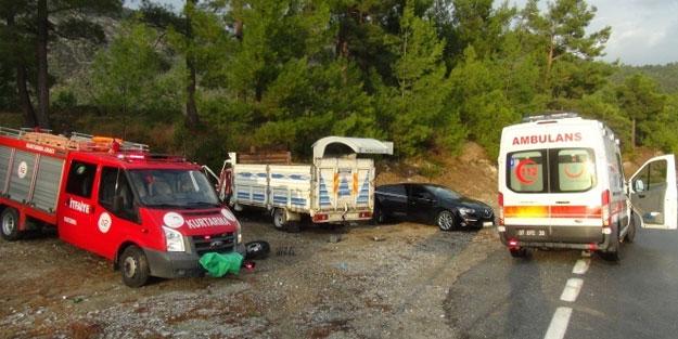 Antalya'da feci kaza! 1 ölü, 2 yaralı