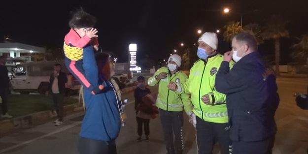 Antalya'da şok görüntü! Kaza yapan anne, polisi böyle tehdit etti