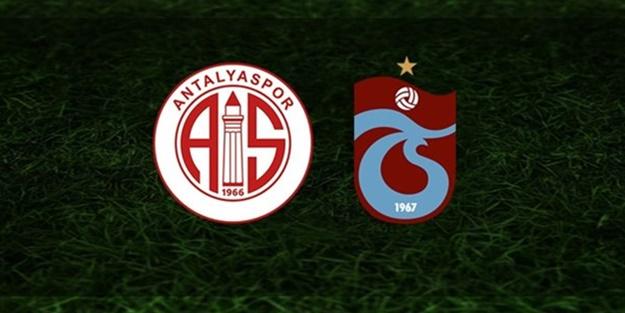 Antalyaspor Trabzonspor maçı muhtemel 11'leri