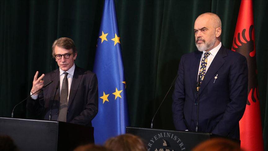 AP Başkanı Sassoli: Arnavutluk'un AB'ye üyelik süreci başlatılmalı