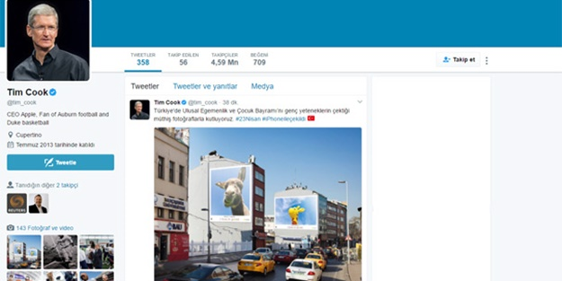 Apple CEO'sundan Türkçe mesaj
