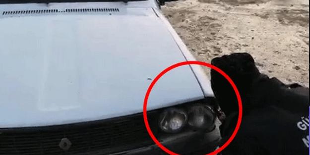 Araba farından 2 adet canlı kuzu çıktı! Görenler şok oldu