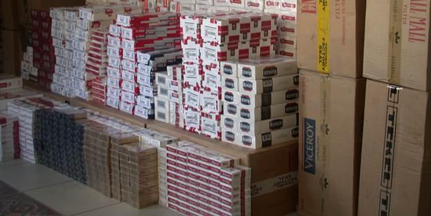 Asayiş uygulamasında 18 bin 580 paket kaçak sigara ele geçirildi