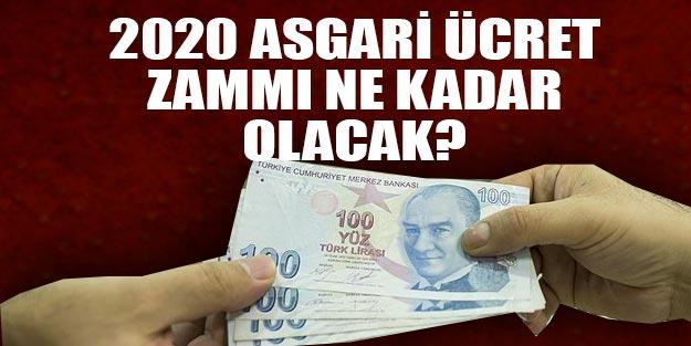 Asgari ücret ne kadar olacak 2020 tahmini   Asgari ücret zammı belli oldu mu?
