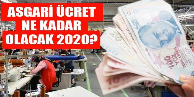 Asgari ücret zammı 2020 asgari ücret belli oldu mu?