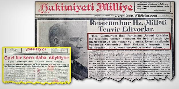 Asıl partili cumhurbaşkanı Atatürk