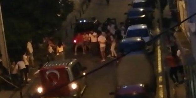 Asker eğlencesi için sokağı kapattılar! Polis müdahale etti