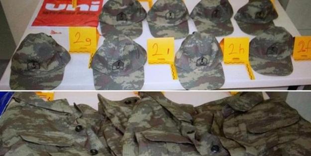 Askeri üniformalar bakın nerede bulundu!