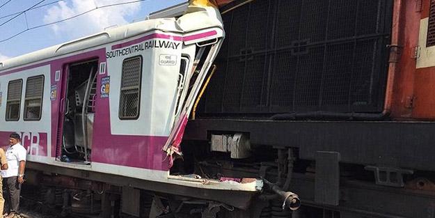 Asya ülkesinde trenler kafa kafaya çarpıştı! Yaralılar var