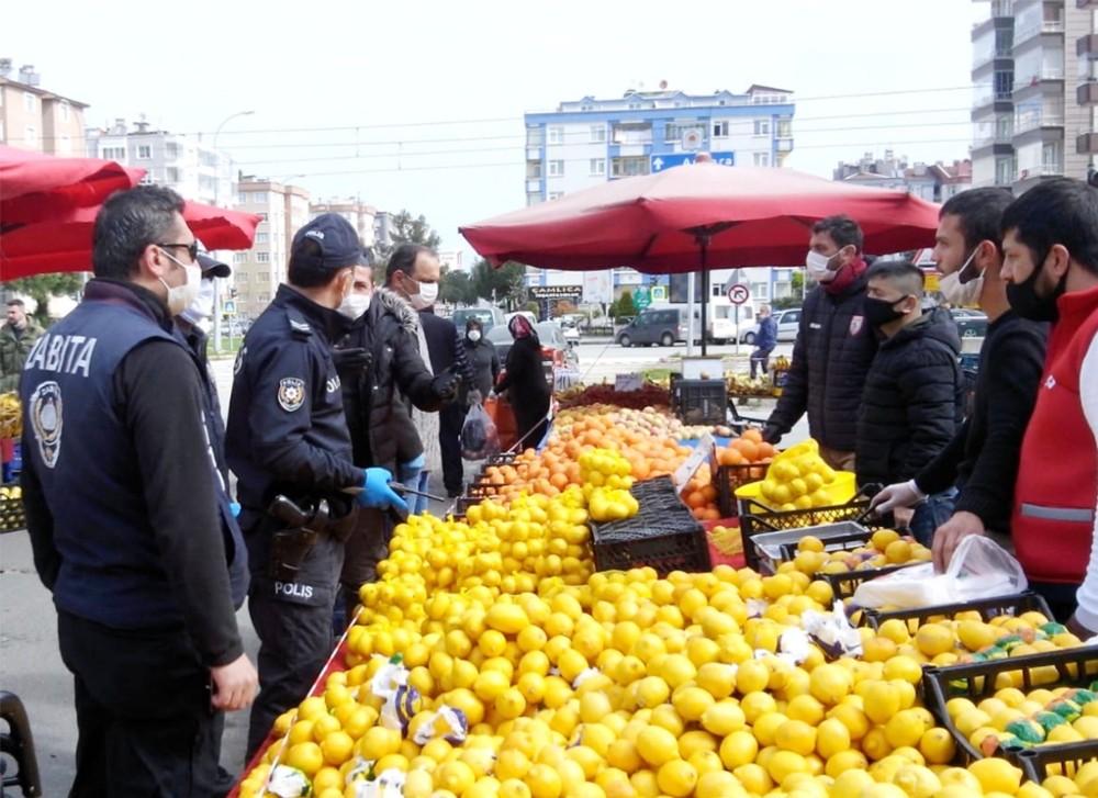 Atakum Zabıtası'ndan pazarlara sıkı deneti