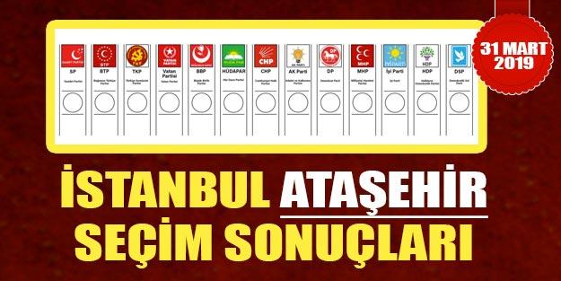 Ataşehir seçim sonuçları 2019 | İstanbul Ataşehir 31 Mart 2019 yerel seçim sonuçları oy oranları