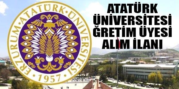 Atatürk Üniversitesi öğretim ve araştırma görevlisi alımı 2019 son dakika başvuru