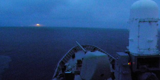 Atina kaşınıyor! Yunan savaş gemisinden telsizle Türk gemisine anons